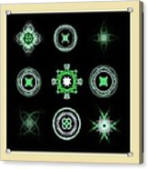 Collage Of Green Fractals Acrylic Print