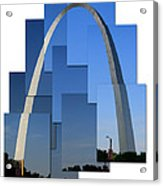 Collage Of St Louis Arch Acrylic Print