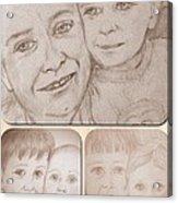 Collage Portraits Acrylic Print