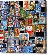 Collage Snowman Horz Photo Art Acrylic Print