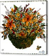Collage With Wild Flowers Acrylic Print