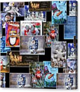 Collage Xmas Cards Horz Photo Art Acrylic Print