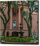 College Courtyard Acrylic Print