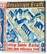 College Of St. Barbe 1460-1960 Half A Millennium Acrylic Print
