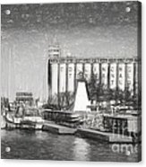 Collingwood Terminals In Old Days Acrylic Print