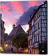 Colmar Twilight Acrylic Print