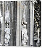 Cologne Cathedral South Side Detail 2 Acrylic Print