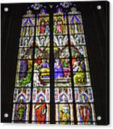 Cologne Cathedral Stained Glass Window Of Pentecost Acrylic Print