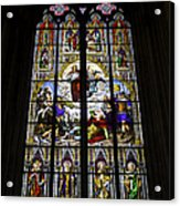 Cologne Cathedral Stained Glass Window Of St Paul Acrylic Print