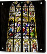 Cologne Cathedral Stained Glass Window Of St Peter Acrylic Print