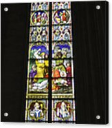 Cologne Cathedral Stained Glass Window Of St. Stephen Acrylic Print