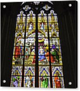 Cologne Cathedral Stained Glass Window Of The Adoration Of The Magi Acrylic Print