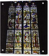 Cologne Cathedral Stained Glass Window Of The Nativity Acrylic Print
