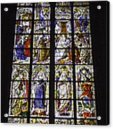 Cologne Cathedral Stained Glass Window Of The Three Holy Kings Acrylic Print