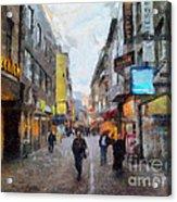 Cologne Stroll Acrylic Print
