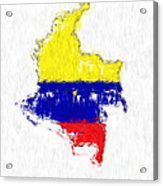 Colombia Painted Flag Map Acrylic Print