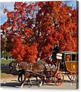 Carriage In Autumn Acrylic Print