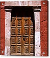 Colonial Door Arequipa Peru Acrylic Print
