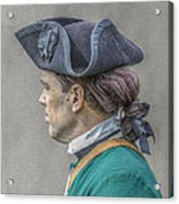 Colonial Soldier Green Jacket Portrait Acrylic Print