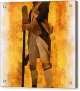 Colonial Soldier Photo Art  Acrylic Print by Thomas Woolworth
