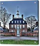 Colonial Williamsburg Governor's Palace Moonrise Acrylic Print