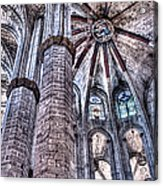 Colonnade And Stained Glass No2 Acrylic Print