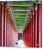 Colonnade In A Royal Palace Acrylic Print by George Oze