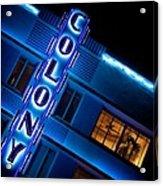 Colony Hotel 1 Acrylic Print