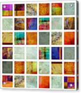 Color Block Collage Abstract Art Acrylic Print