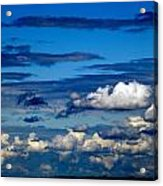 Color Burned Clouds Acrylic Print