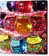 Color Fish Bowls Acrylic Print