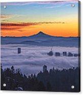Color Fog Mountain Acrylic Print