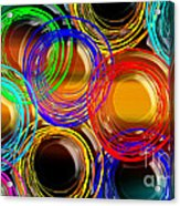 Color Frenzy 1 Acrylic Print by Andee Design