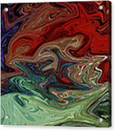 Color Fusion To The Ablution Of Delusions  Acrylic Print