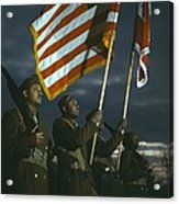 Color Guard Of African American Acrylic Print
