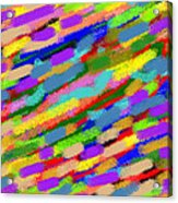 Color Hatch Highway Acrylic Print
