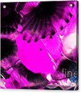 Color Infared Glass Flowers Acrylic Print