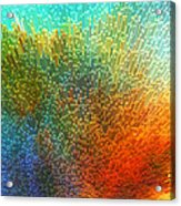 Color Infinity - Abstract Art By Sharon Cummings Acrylic Print by Sharon Cummings