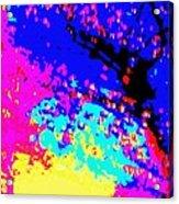 Color Of Rain Abstract Acrylic Print