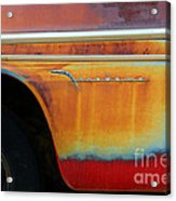 Color Of Rust Acrylic Print