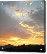 Color Of Sunset  Acrylic Print