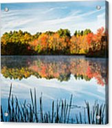 Color On Grist Millpond Acrylic Print by Michael Blanchette