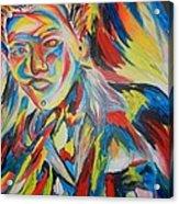 Color Portrait Acrylic Print by Juan Molina