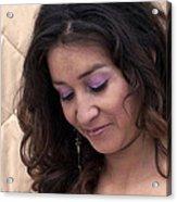 Color Portrait Young Spanish Woman II Acrylic Print
