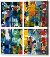 Color Relationships Collage Acrylic Print