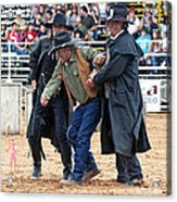 Color Rodeo Shootout Deputies Arrest Outlaw Acrylic Print