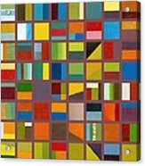 Color Study Collage 65 Acrylic Print