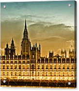 Color Study London Houses Of Parliament Acrylic Print by Melanie Viola