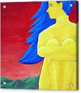 Color Study Yellow Acrylic Print