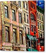 Color The City New York Acrylic Print by Thomas Fouch